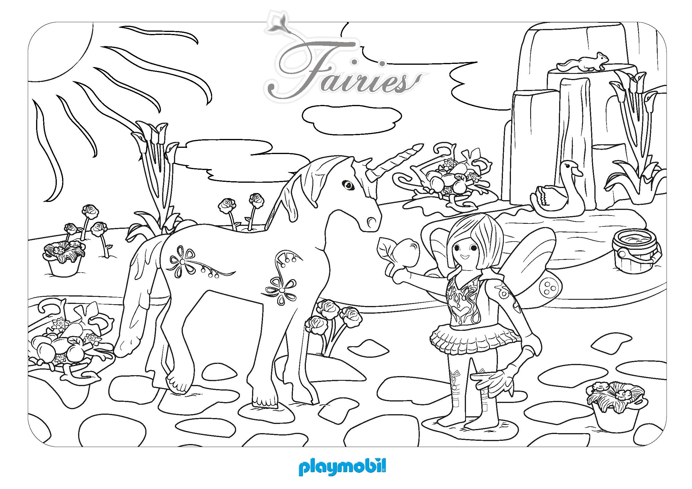 Coloriage à imprimer : Personnages célèbres - Playmobil numéro 756068