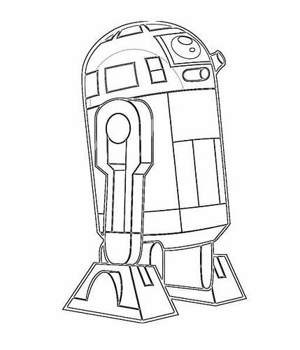 Colorear R2d2 Star Wars Para Dibujos Pintar Los Ninos Sketch ...