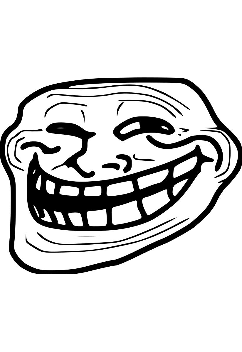 Coloriages à imprimer : Troll face, numéro : 226427
