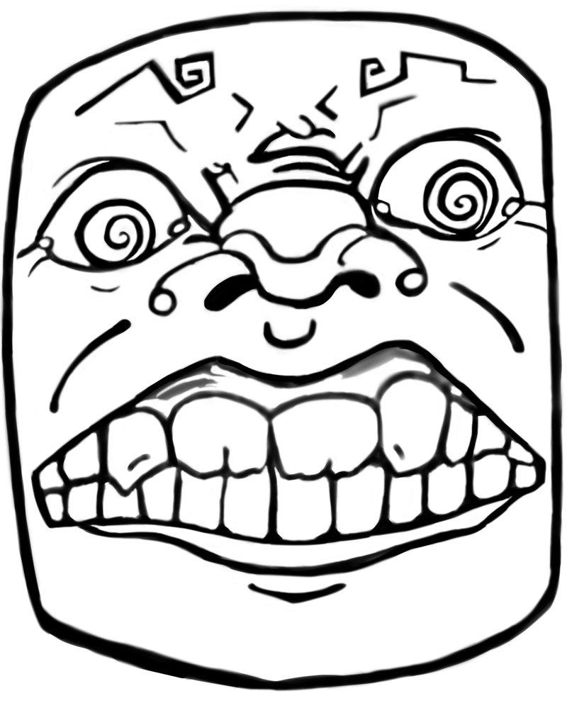 Coloriages à imprimer : Troll face, numéro : 28335