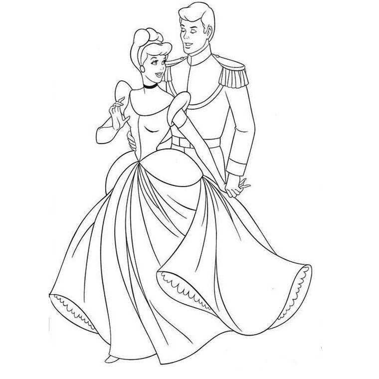 Coloriage Princesse Robe Mariee.Coloriages A Imprimer Cendrillon Numero 434204