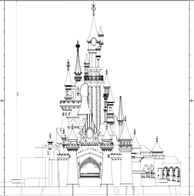 coloriage imprimer personnages clbres walt disney la belle au bois dormant numro 297037 - Dessin Chateau Disney