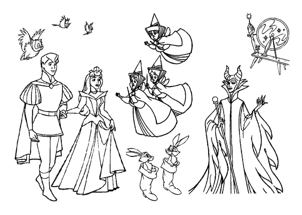 Dibujos Para Colorear Rapunzel: Coloriages à Imprimer : La Belle Au Bois Dormant, Numéro