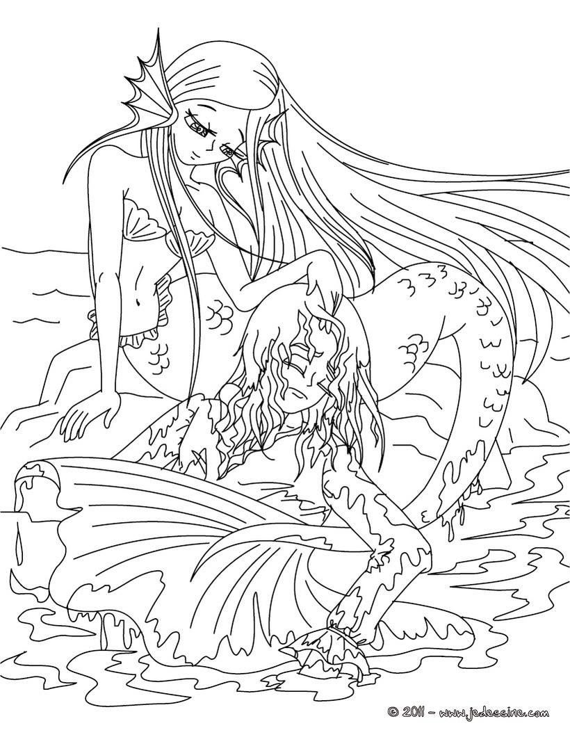 Coloriages à Imprimer La Petite Sirène Numéro 16110