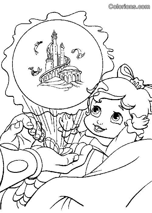 Coloriages à imprimer : La Petite Sirène, numéro : 23684