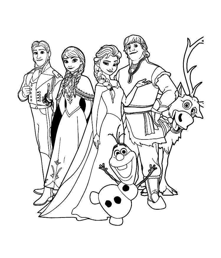 coloriage imprimer personnages clbres walt disney la reine des neiges numro 671607