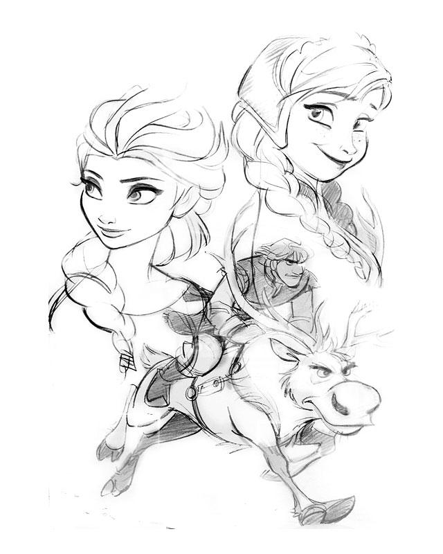 coloriage imprimer personnages clbres walt disney la reine des neiges numro 671613