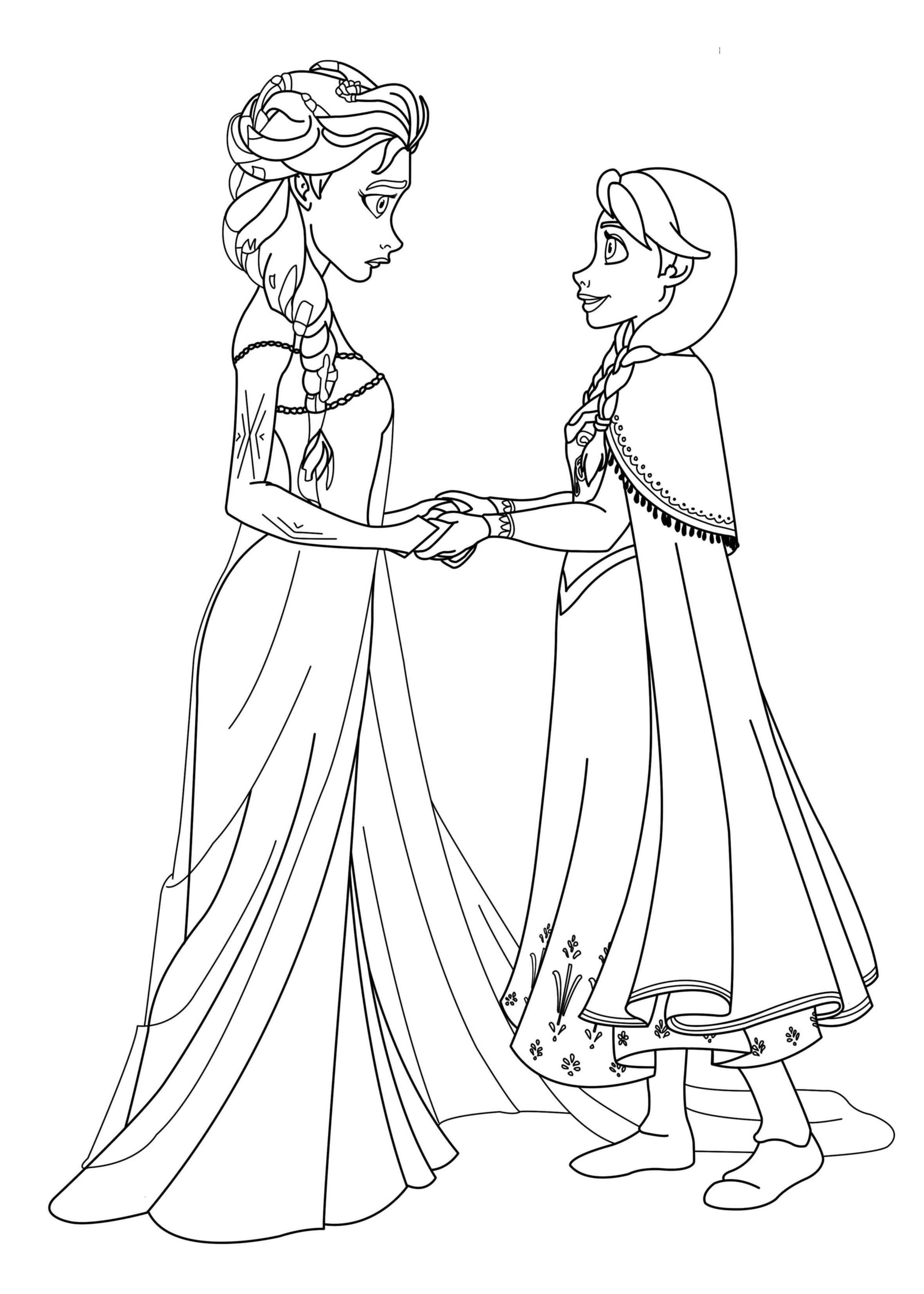 Coloriage  imprimer Personnages cél¨bres Walt Disney La Reine des neiges numéro