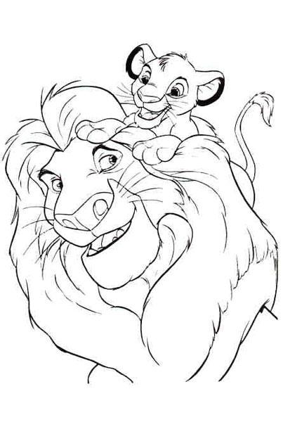Dessins en couleurs imprimer le roi lion num ro 12938 - Dessin simba roi lion ...