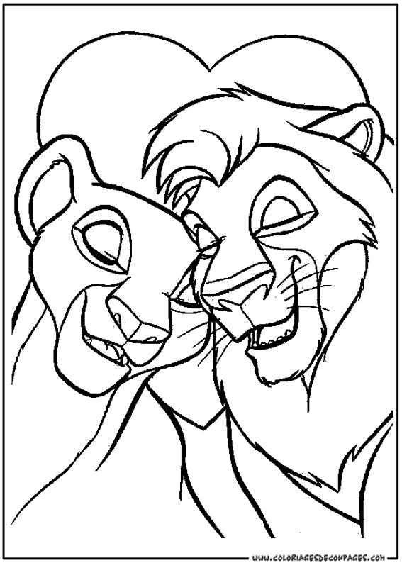 Coloriages à imprimer le roi lion numéro