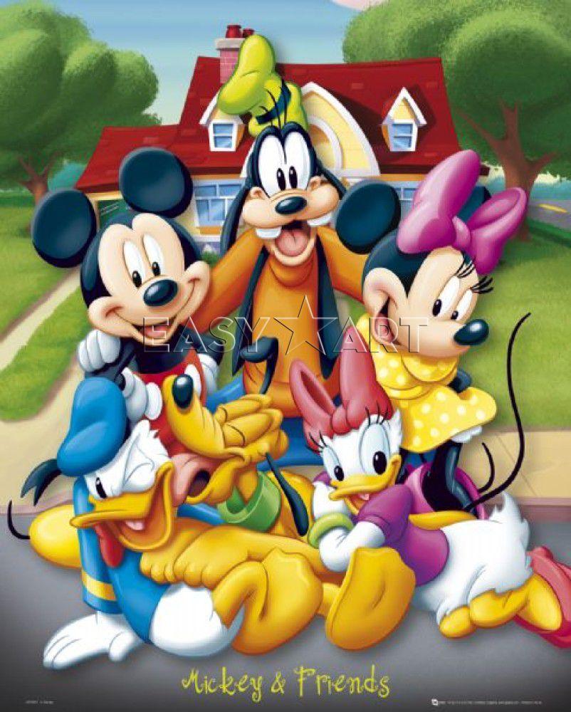 Dessins en couleurs à imprimer mickey mouse numéro