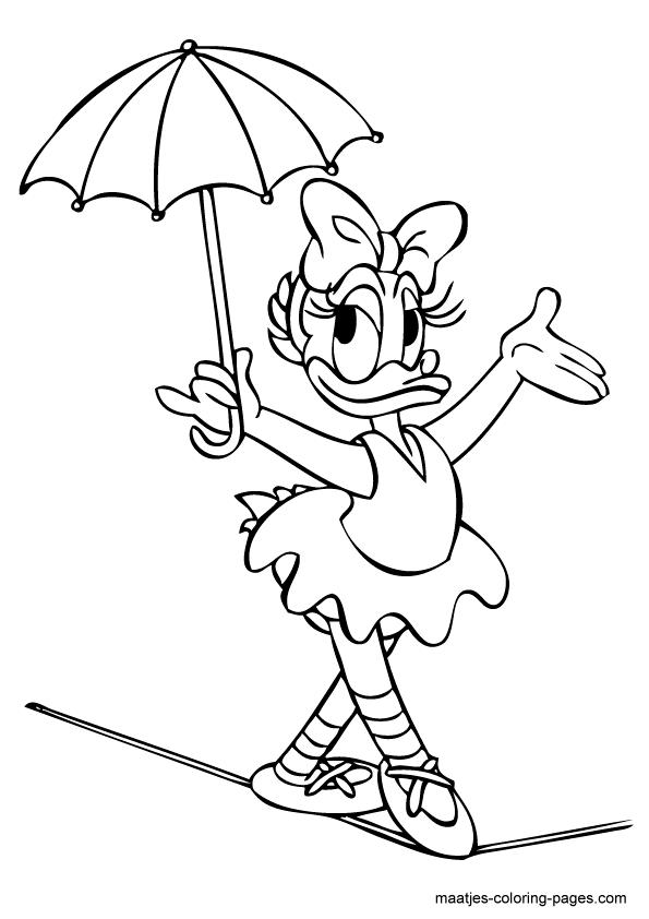 Coloriages à imprimer : Daisy Duck, numéro : 7391