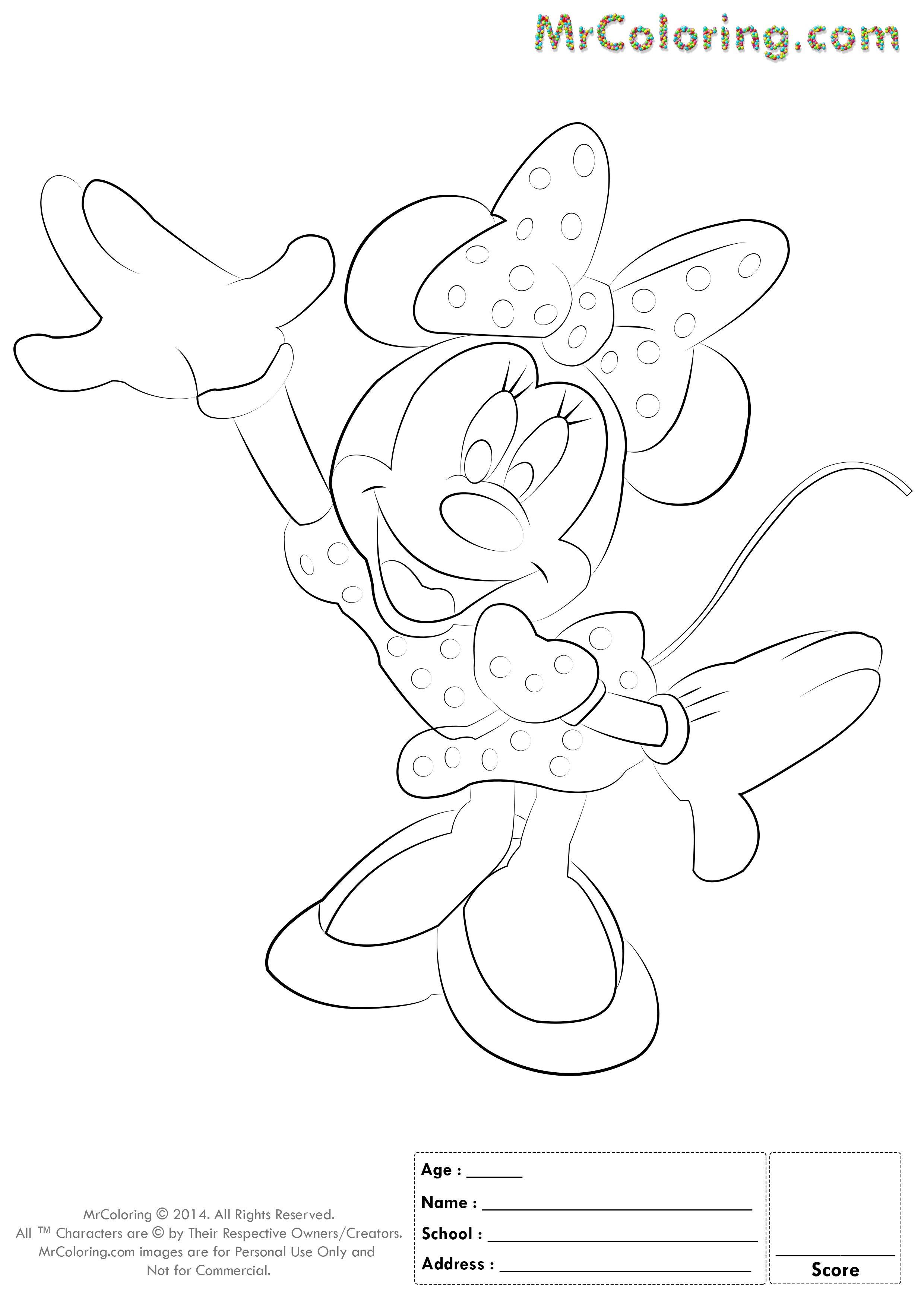 mickey mouse blank coloring pages - photo#17