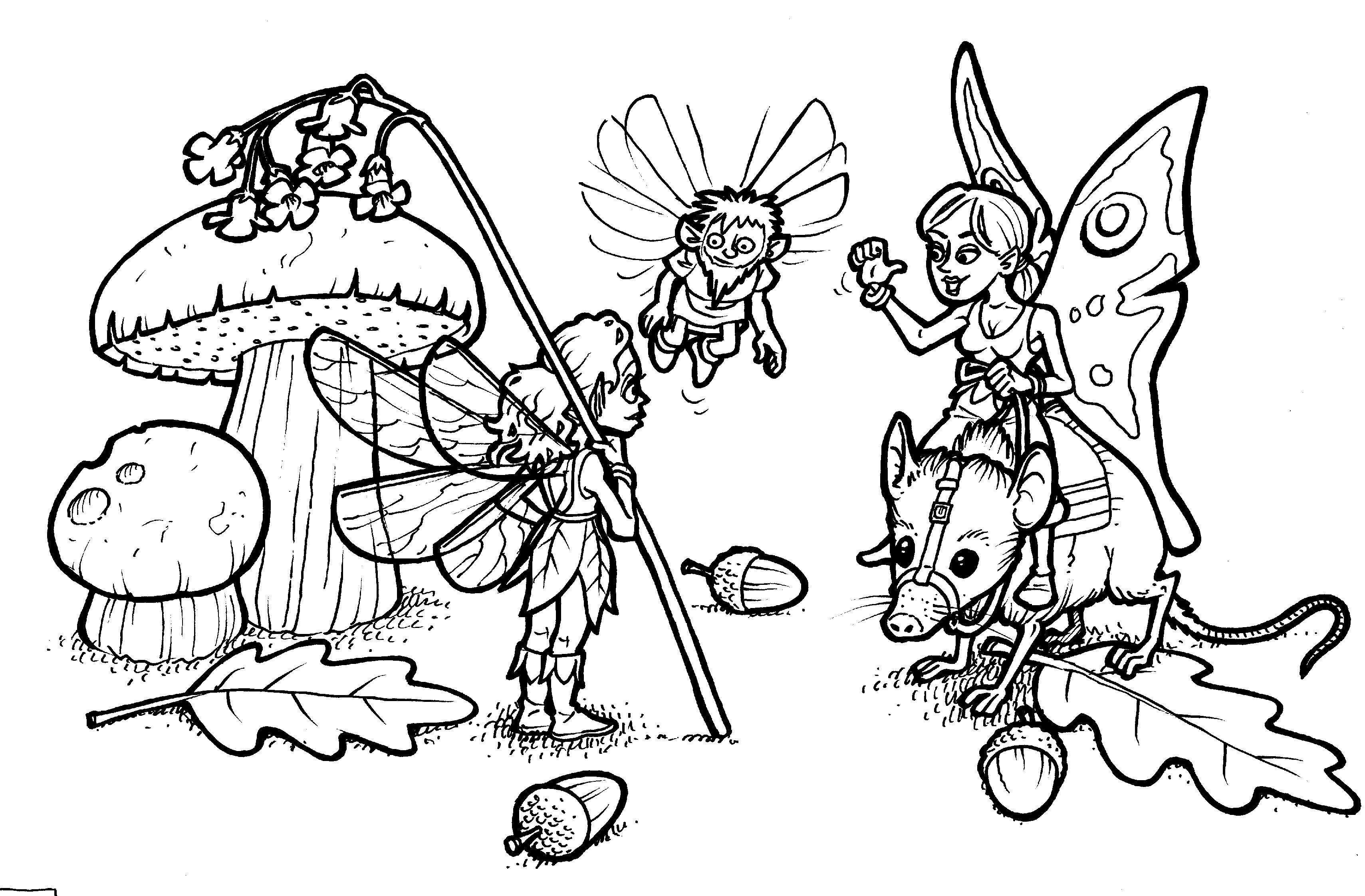 Coloriages à imprimer : Personnages féeriques, numéro : 1850c34b