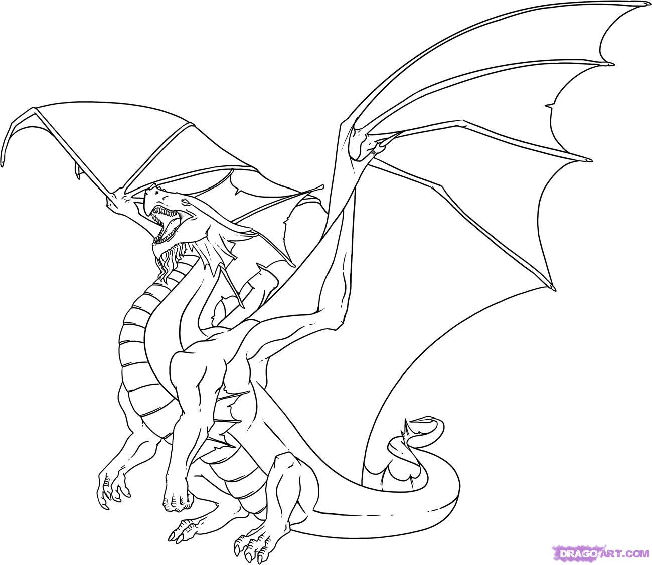 Coloriages à imprimer : Dragon, numéro : 113335