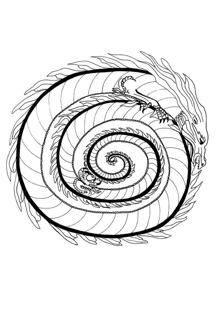 Coloriages à imprimer : Dragon, numéro : 16373