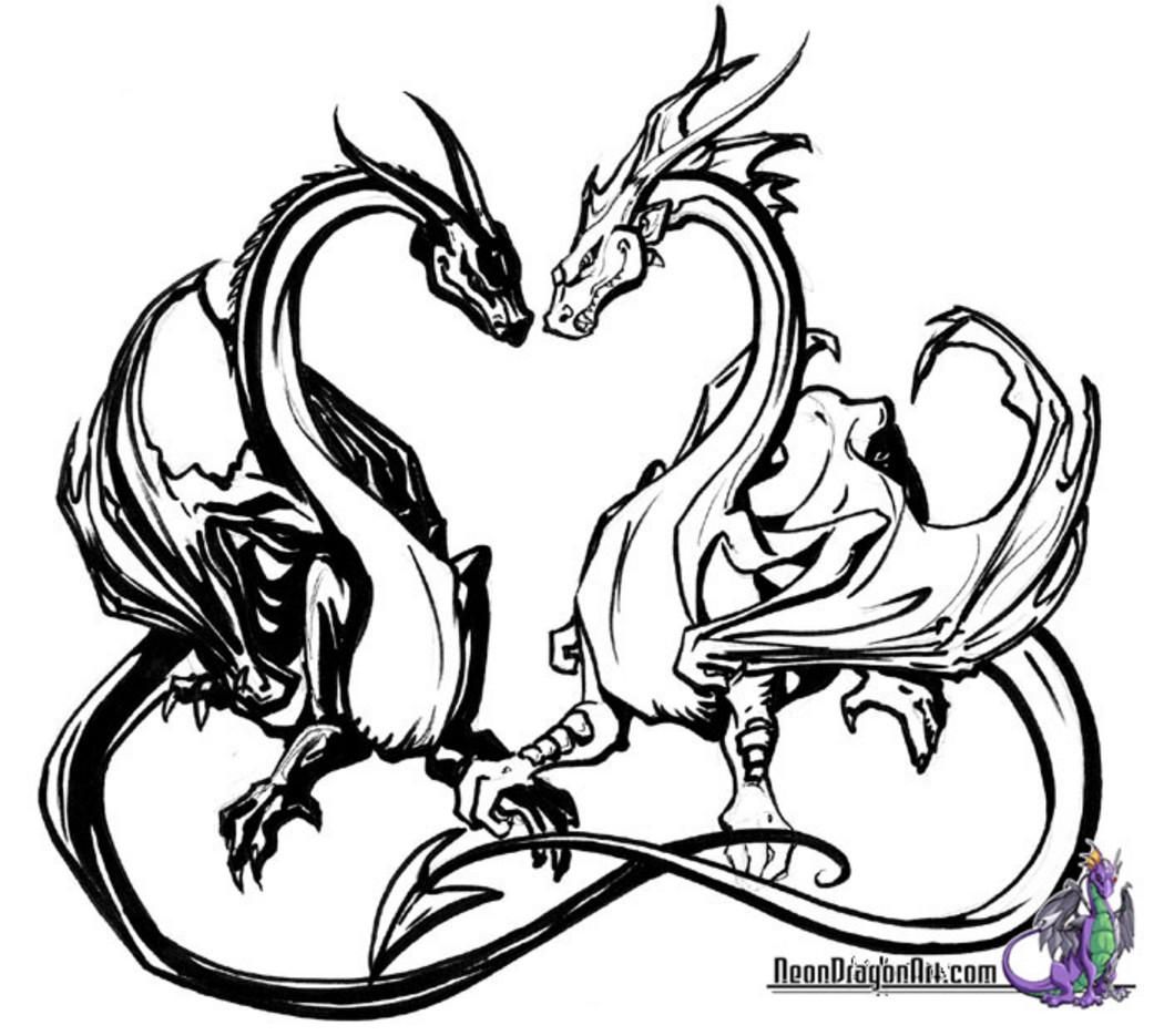 Coloriages à imprimer : Dragon, numéro : 16374