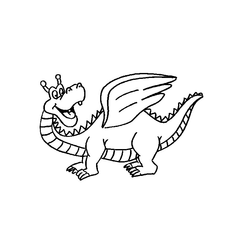 Coloriages imprimer dragon num ro 341421 - Modele dessin dragon ...