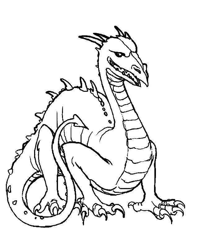 Coloriages à imprimer : Dragon, numéro : 4727