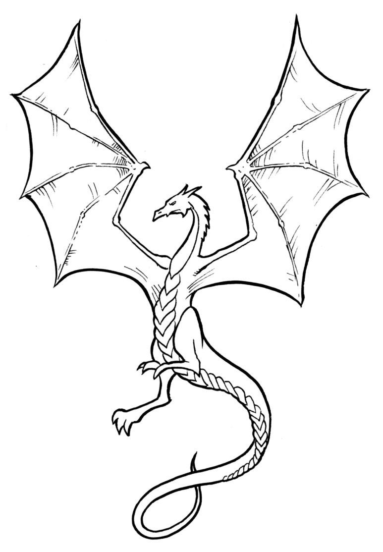 Coloriages à imprimer : Dragon, numéro : 4738