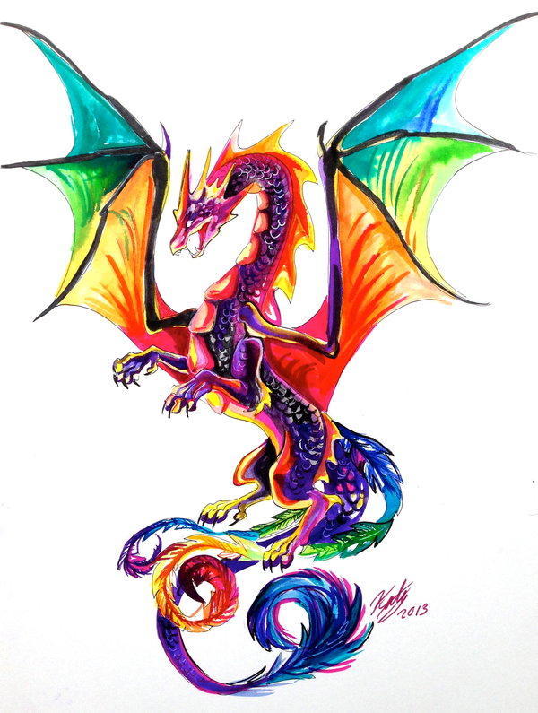 Dessins en couleurs imprimer dragon num ro 484407 - Dessin dragon couleur ...