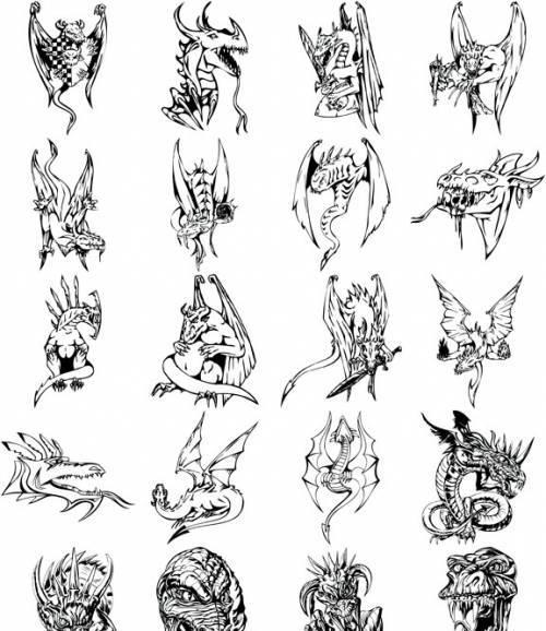 Coloriages à imprimer : Dragon, numéro : 5158