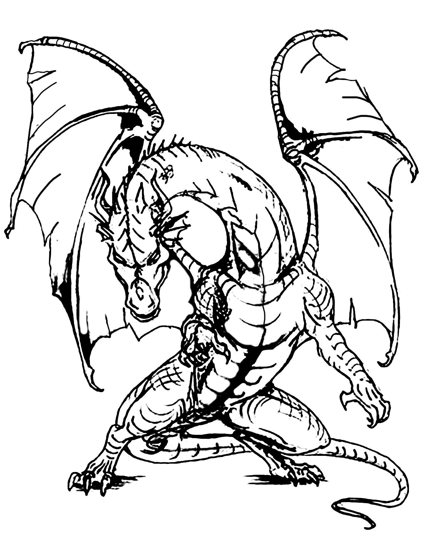 Coloriages à imprimer : Dragon, numéro : 98a2d83b