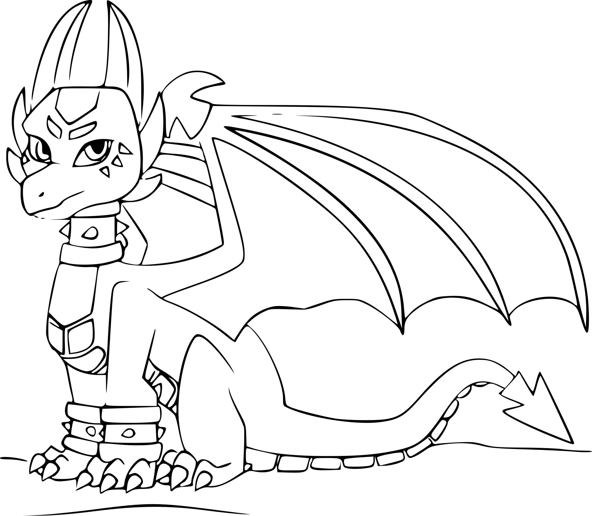 Coloriages à imprimer : Dragon, numéro : aecb4528