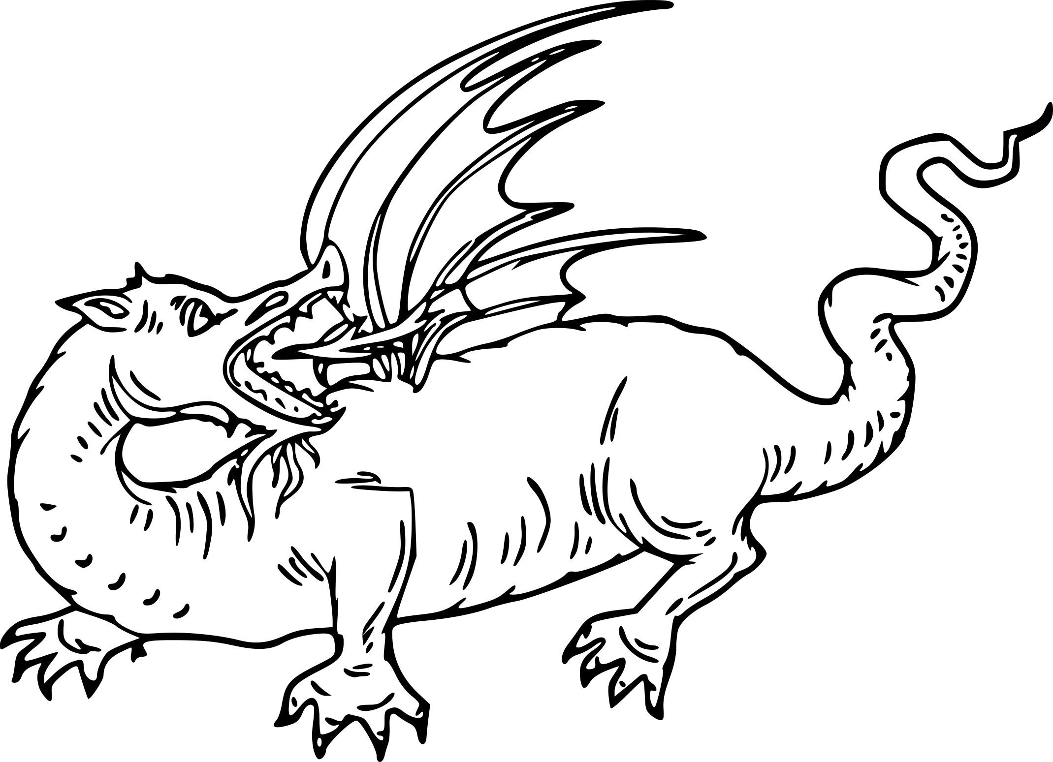 Coloriages à imprimer : Dragon, numéro : b16f7ea7