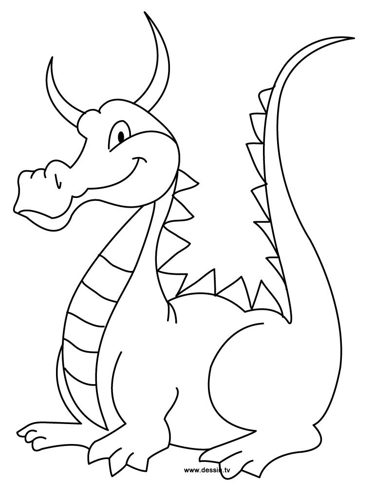 Coloriages à imprimer : Dragon, numéro : ef631796
