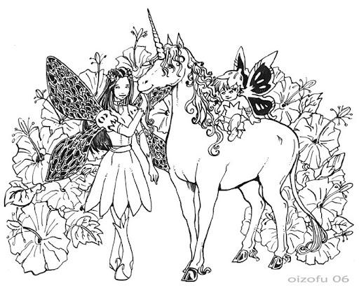 Coloriages à imprimer : Licorne, numéro : 3974