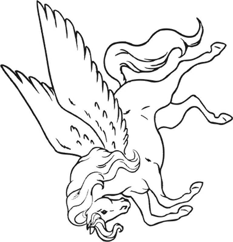 Coloriages à imprimer : Licorne, numéro : 759826