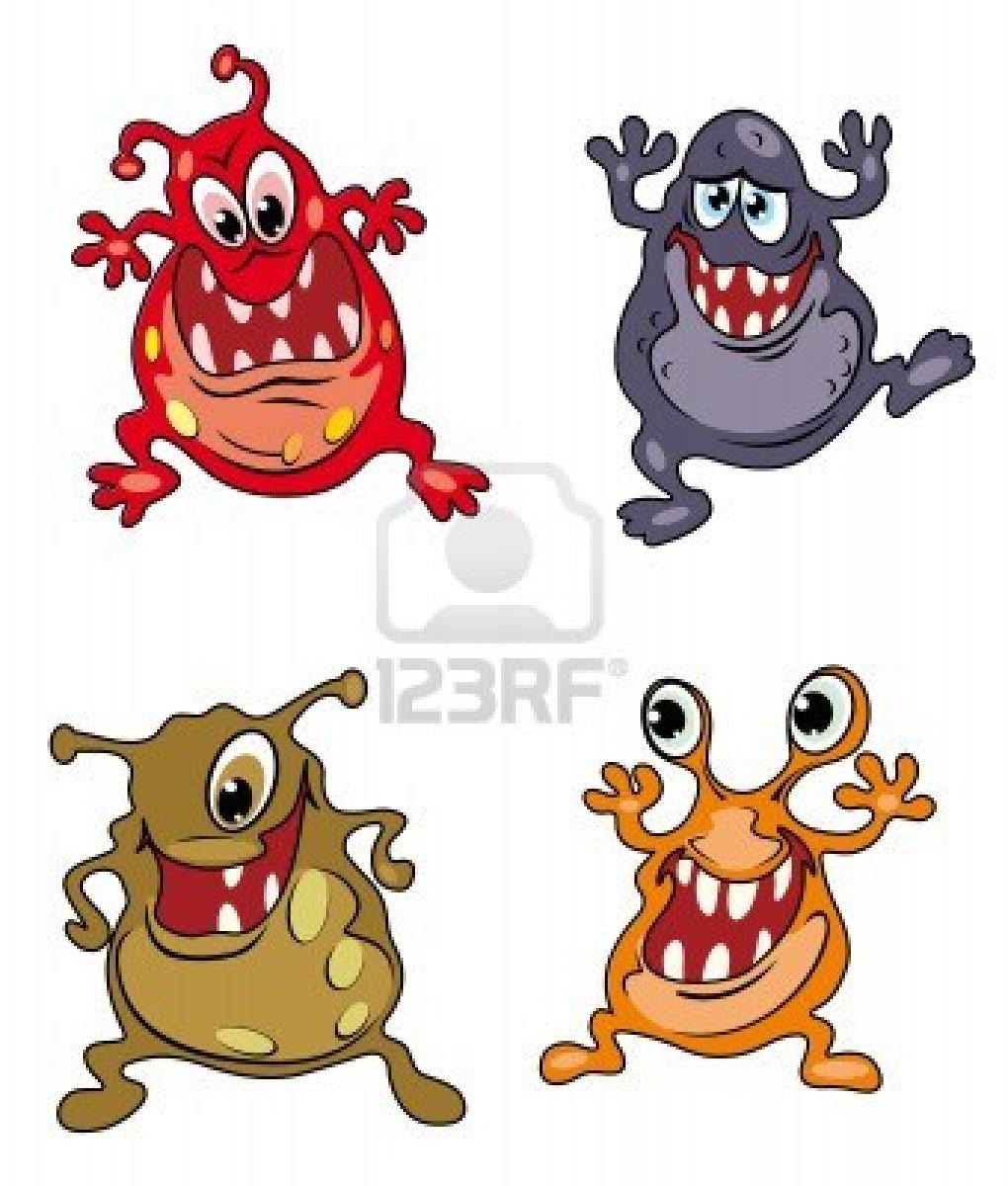 Coloriage singe rigolo en couleurs - Dessins de monstres ...