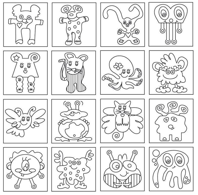 Coloriages à imprimer : Monstres, numéro : 214153