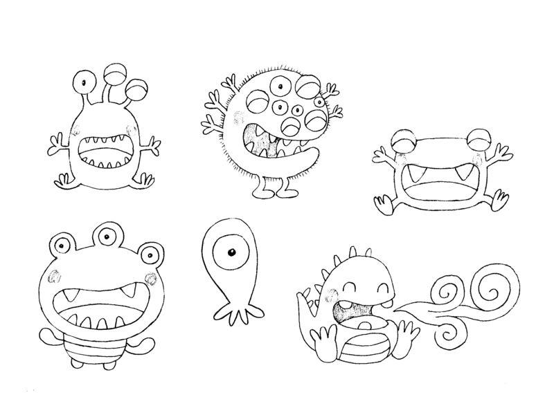 Coloriages à imprimer : Monstres, numéro : 398143