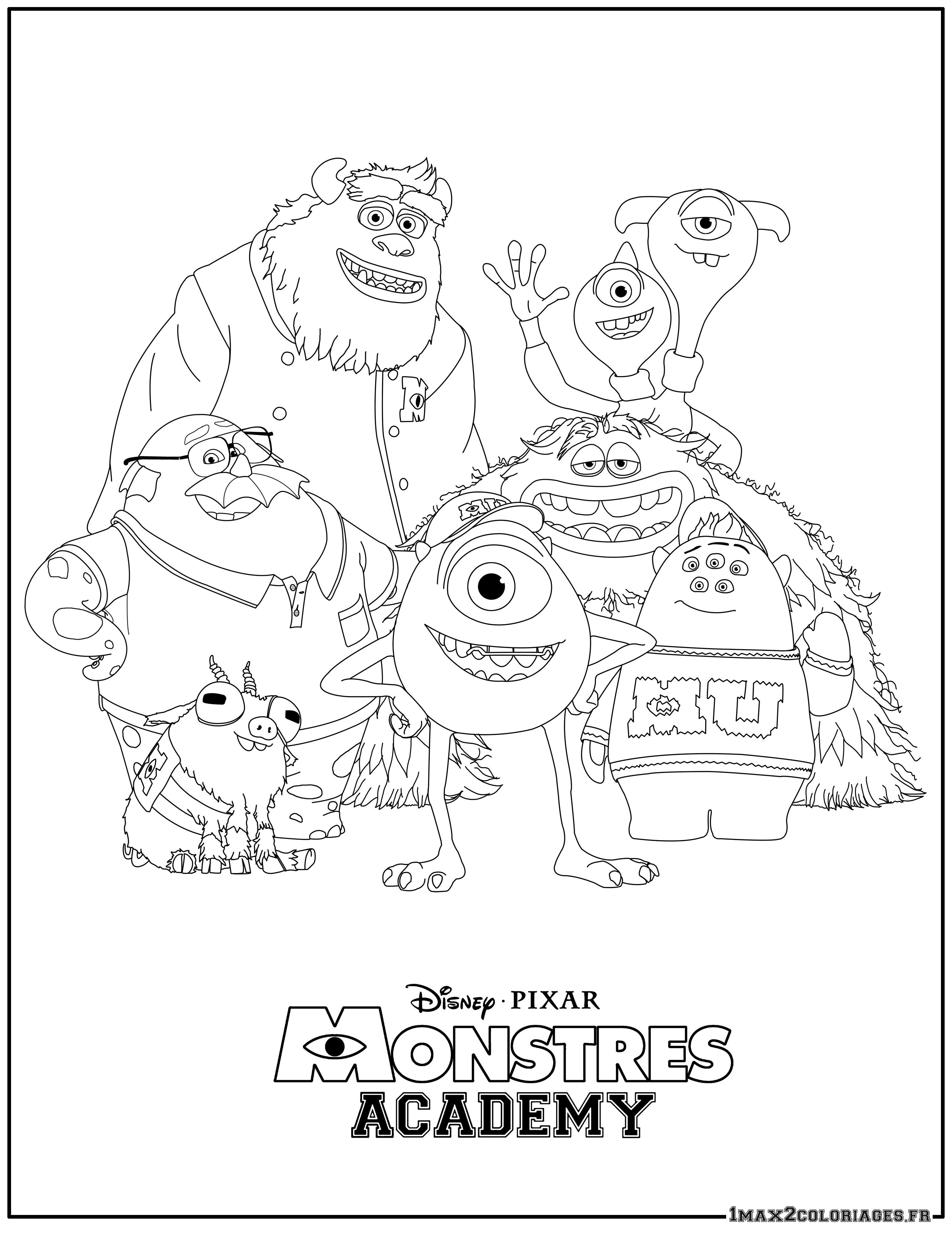 Coloriages à imprimer : Monstres, numéro : 677da2c0