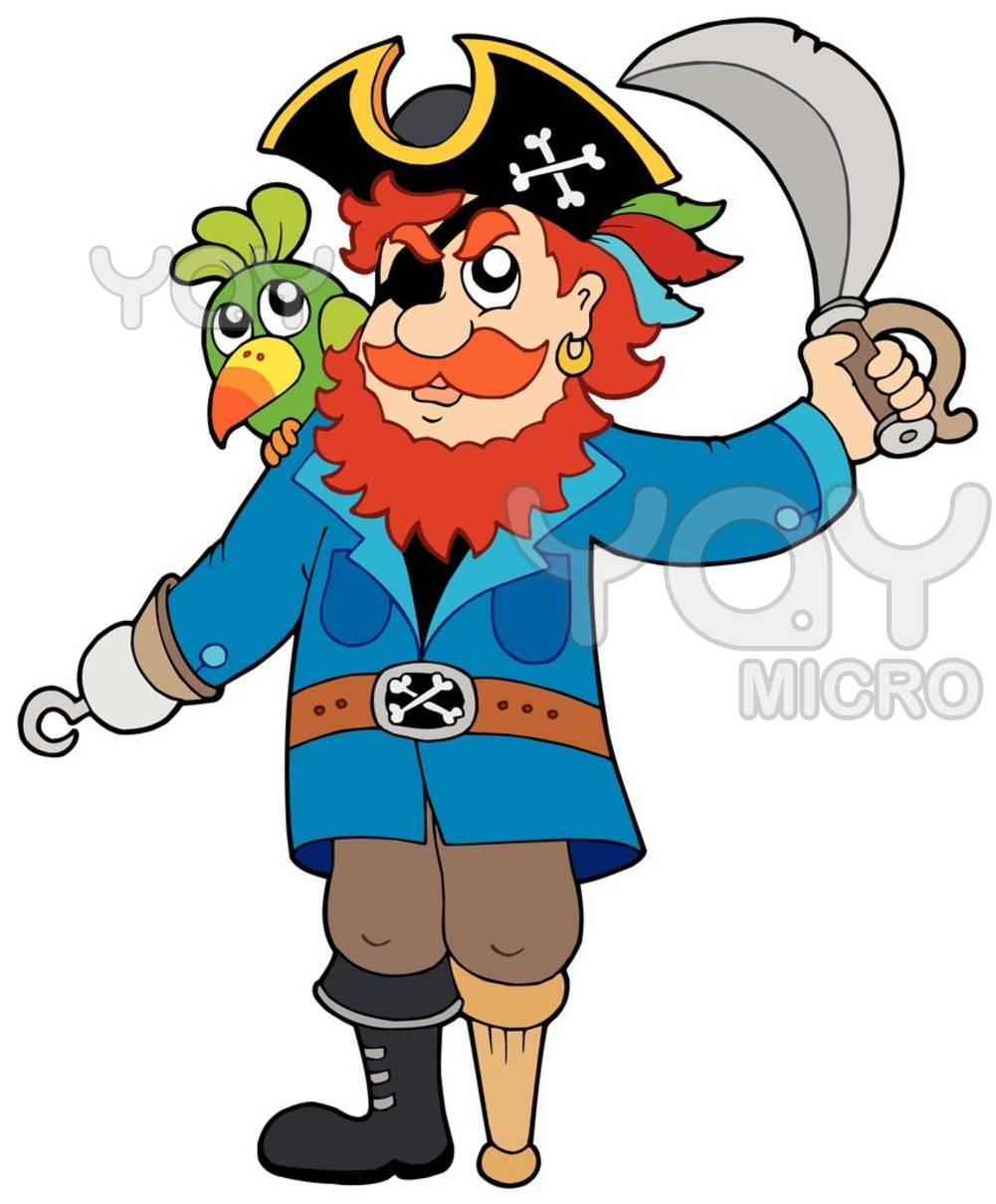 Dessins En Couleurs à Imprimer : Pirate, Numéro : 9933