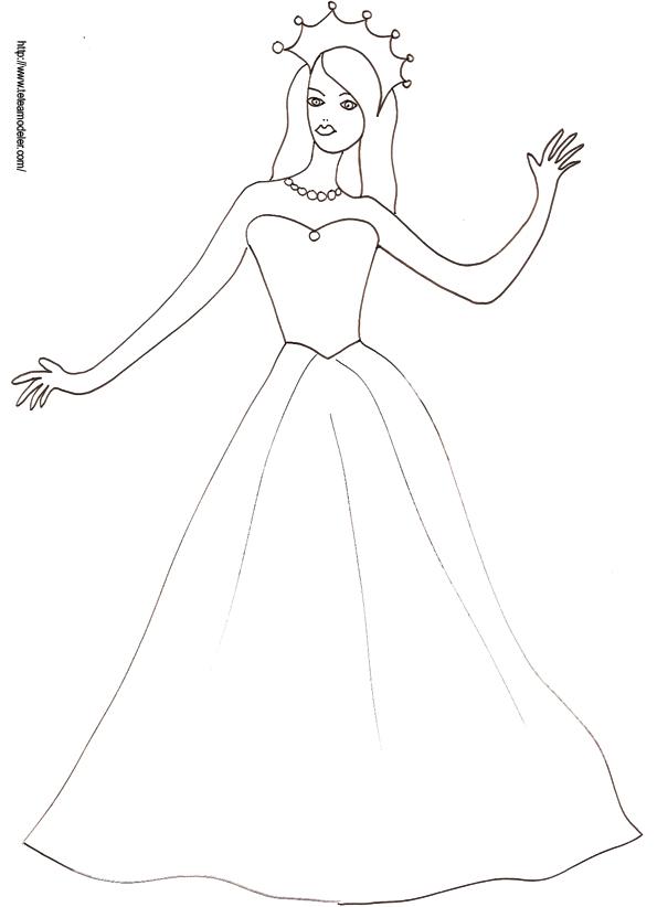 Modele Dessin Princesse Facile