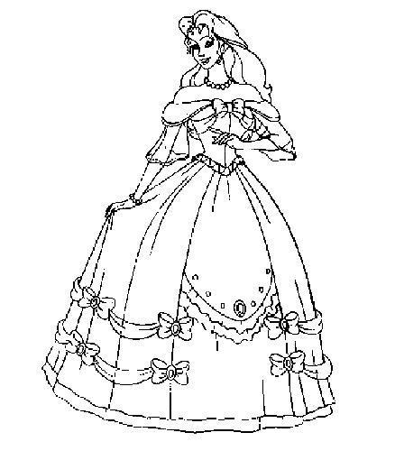 Coloriages à imprimer : Princesse, numéro : 293178