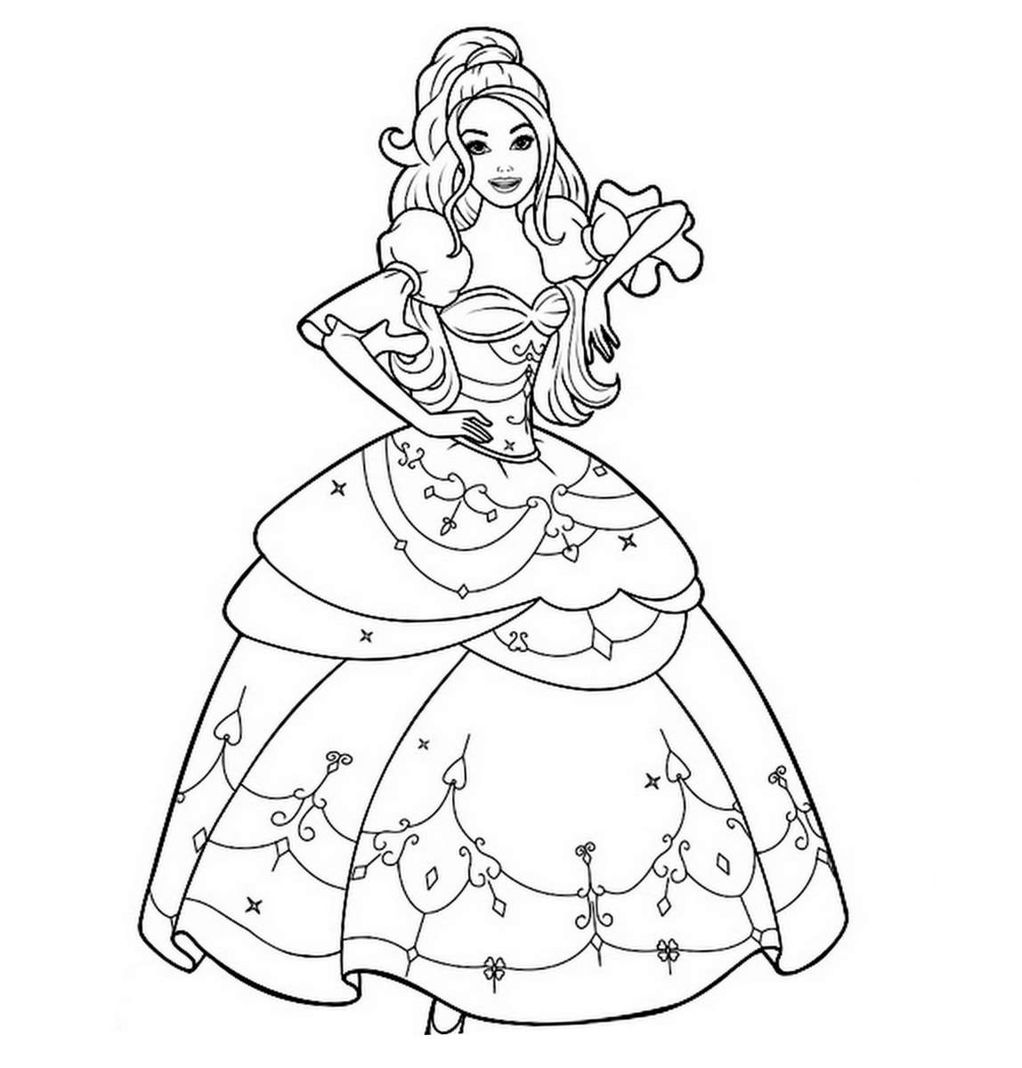 imprimer le coloriage princesse numro 4311