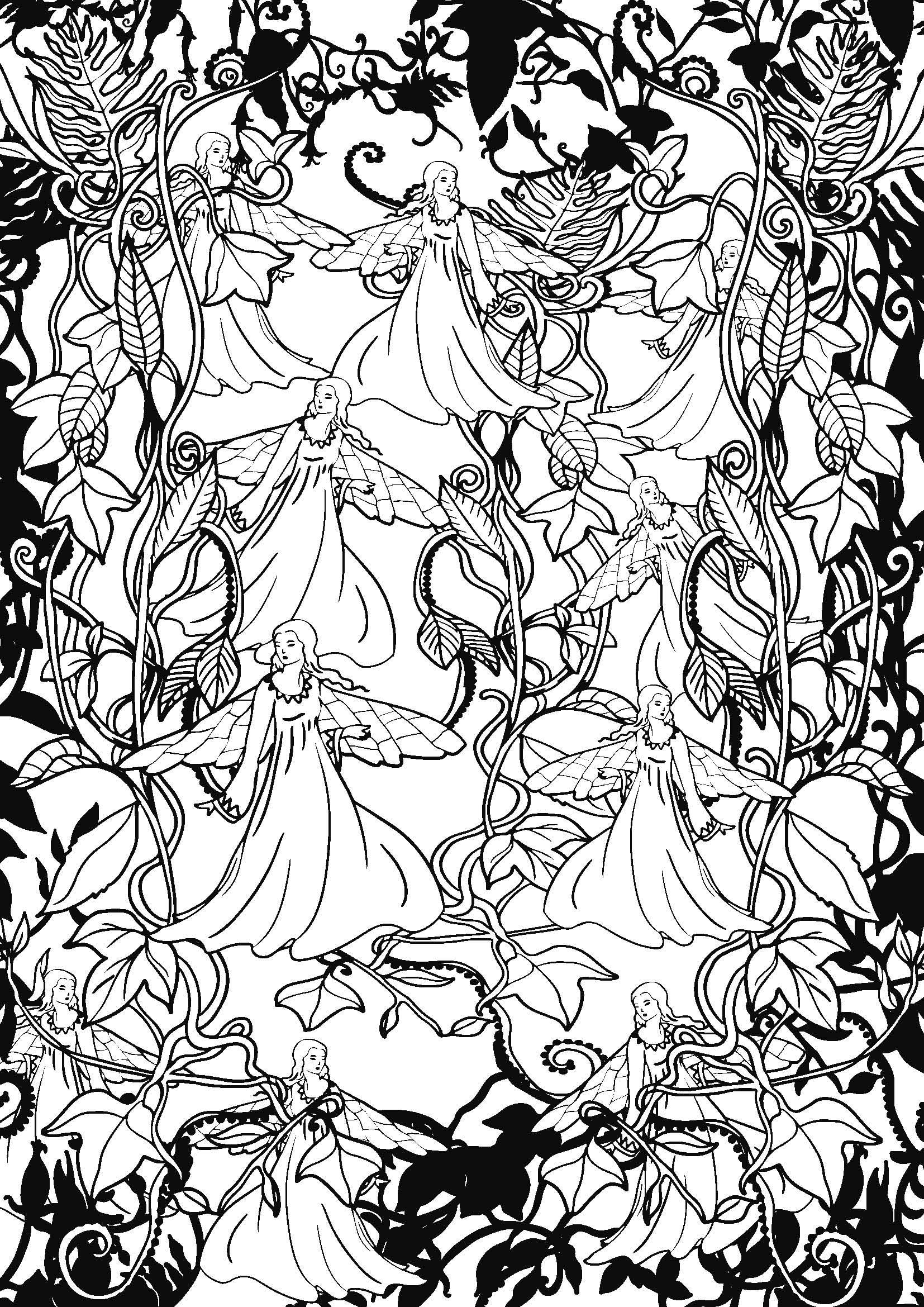 Coloriages à imprimer : Personnages féeriques, numéro : fab9dc05