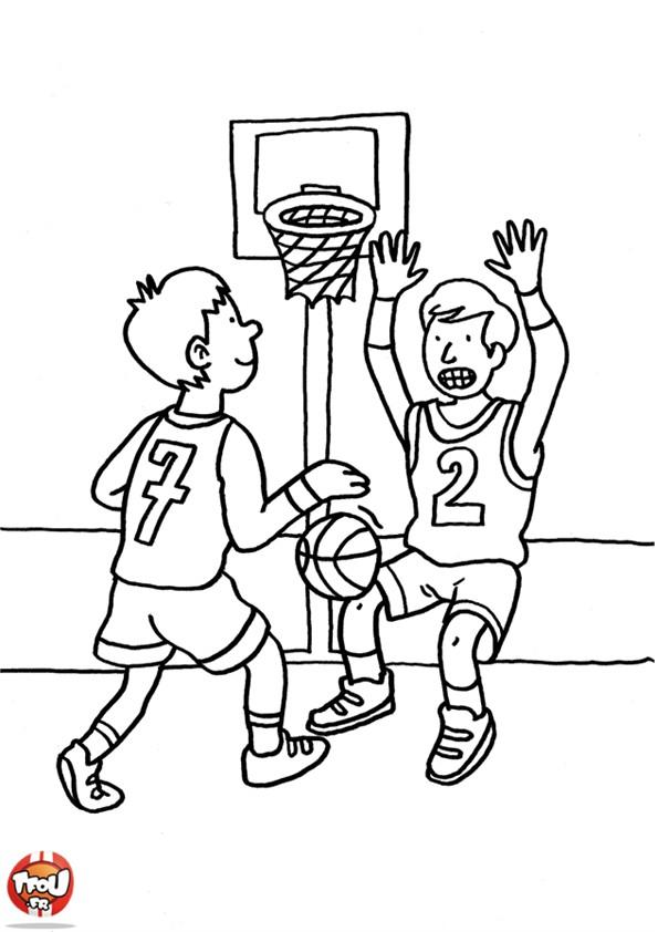Coloriages à imprimer : Basketball, numéro : 459883