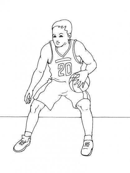 Coloriages à imprimer : Basketball, numéro : 459888