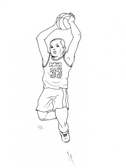 Coloriages à imprimer : Basketball, numéro : 459902