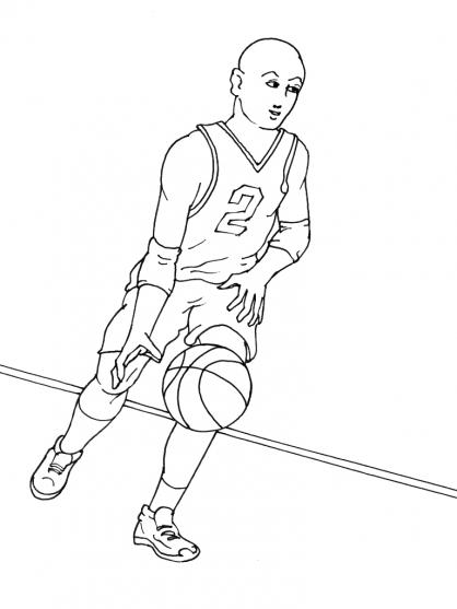 Coloriages à imprimer : Basketball, numéro : 459905