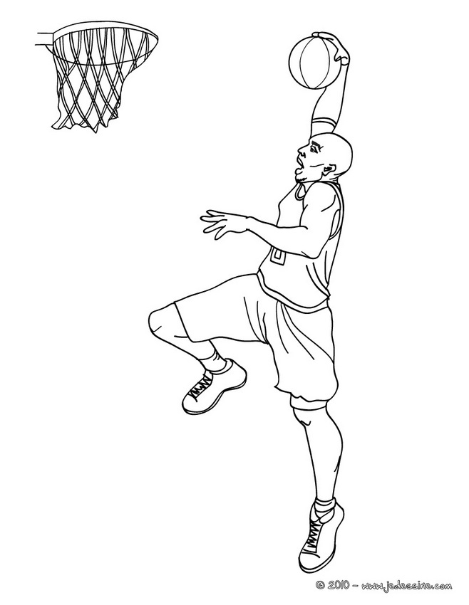 Coloriages imprimer Basketball