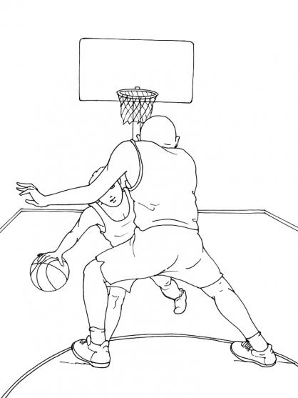 Coloriages à imprimer : Basketball, numéro : 590314