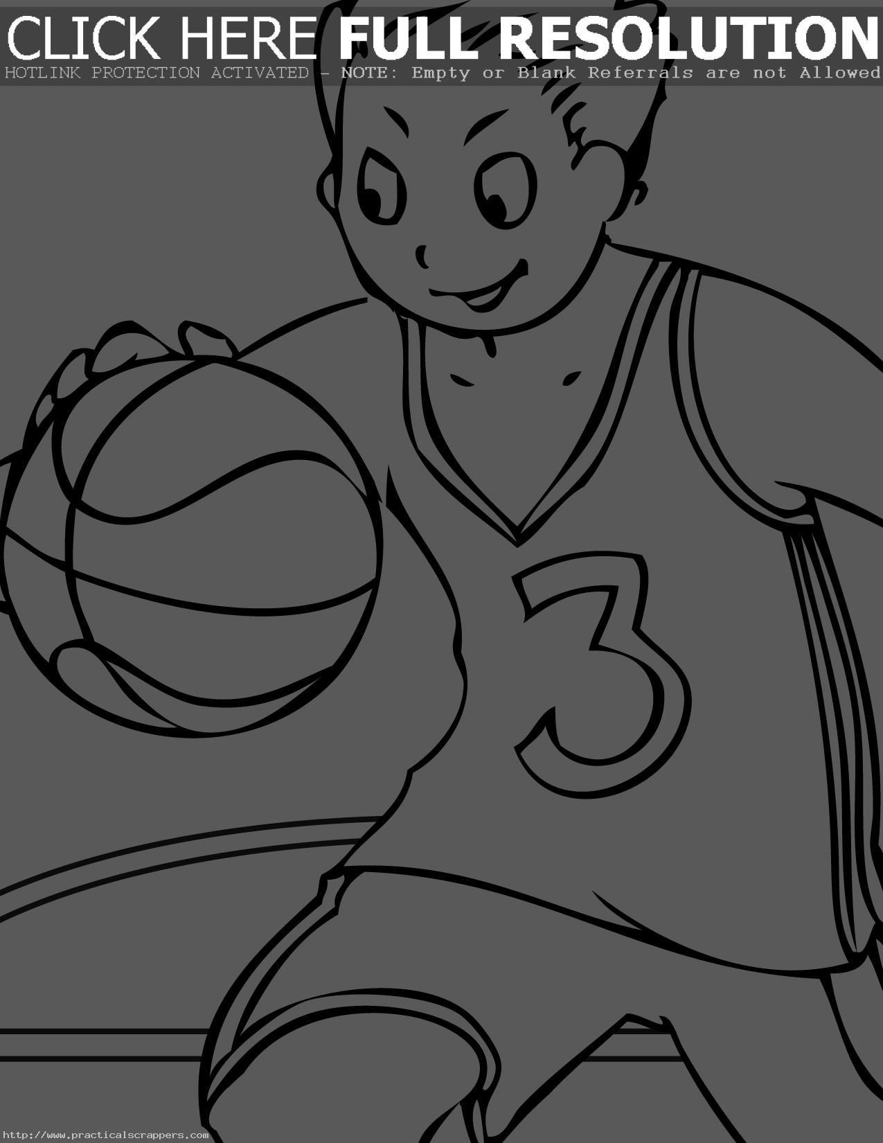 Coloriages à imprimer : Basketball, numéro : 678545