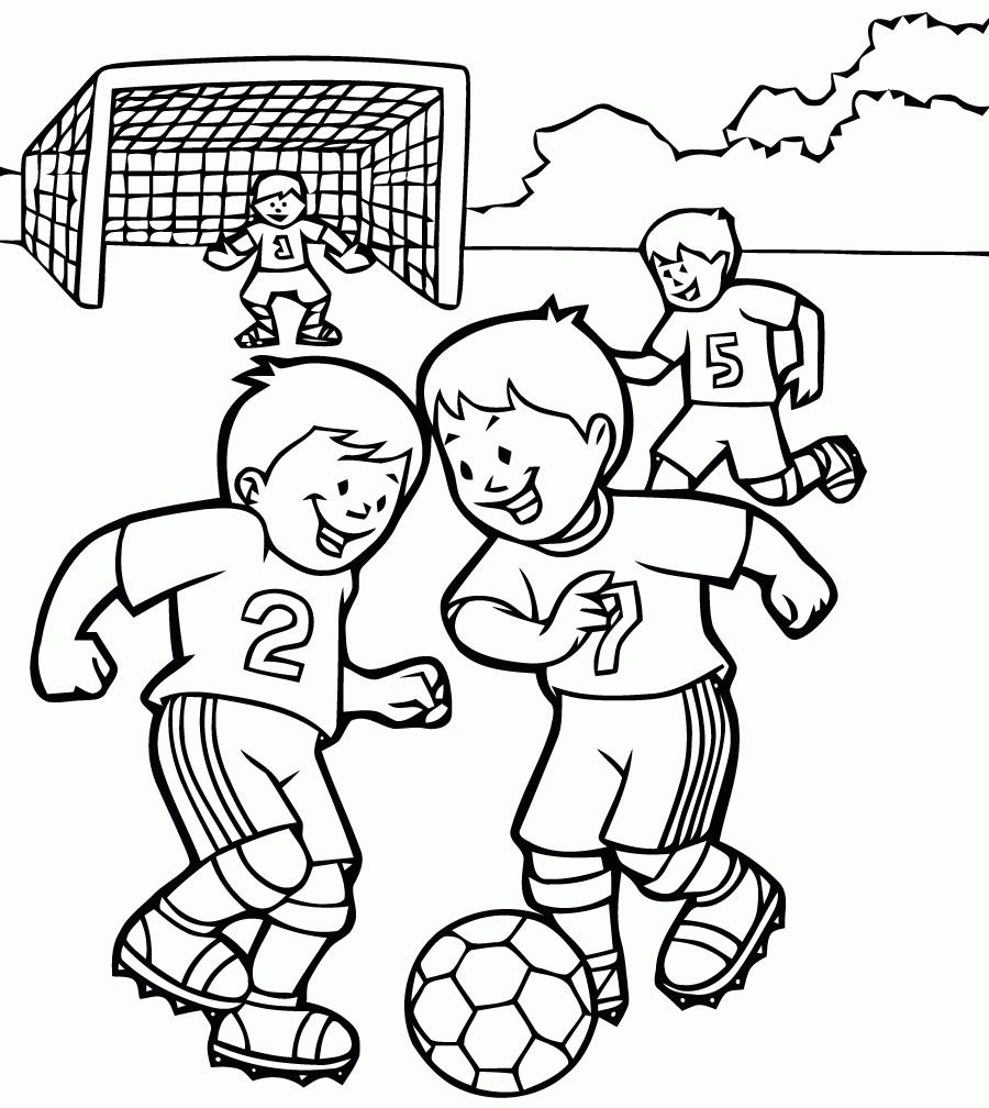 Coloriages à imprimer : Football, numéro : 427a2bfd