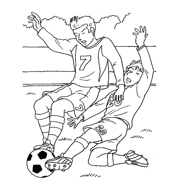 Coloriages imprimer football num ro 459867 - Coloriage de footballeur ...